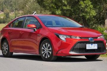 Toyota Corolla front hybrid sedan