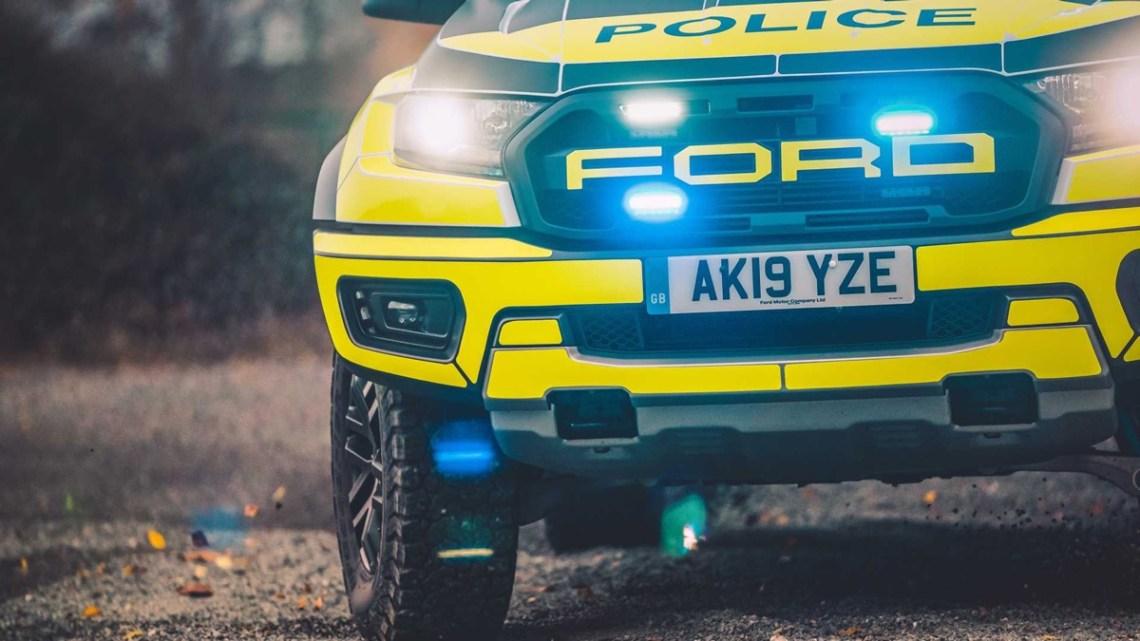 Ford Ranger Raptor police car ute lights