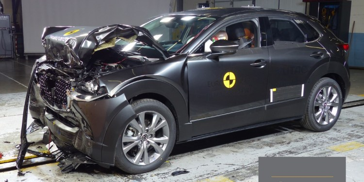 Mazda CX-30 crash ANCAP rating test