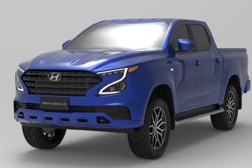 Hyundai dual-cab ute rendering
