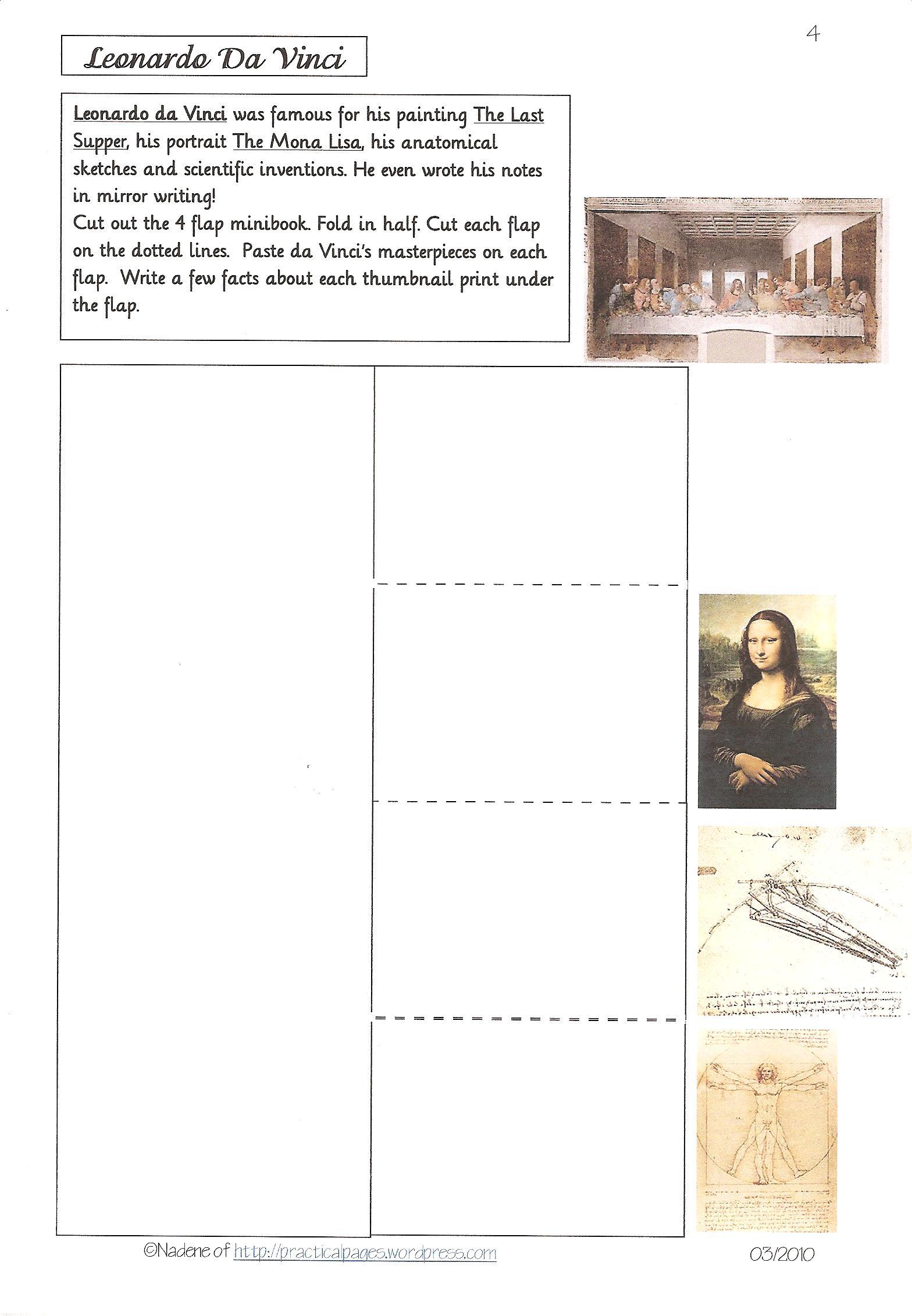 Famous Artists Lapbook Loads Of Minibooks