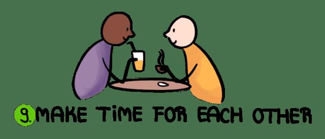 एक-दूसरे के लिए समय निकालें