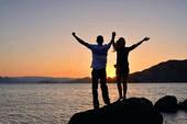 sun with couple