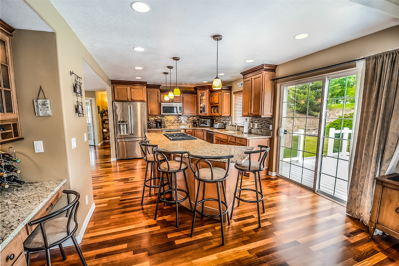 Well polished hardwood floors have a natural shine without being slippery.