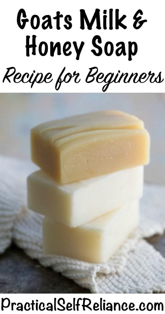 Goats Milk and Honey Soap Recipe #soapmaking #coldprocessedsoap #handmadesoap #naturalsoap #diysoap #soaprecipe #goatsmilksoap #milkandhoney #skincareproducts