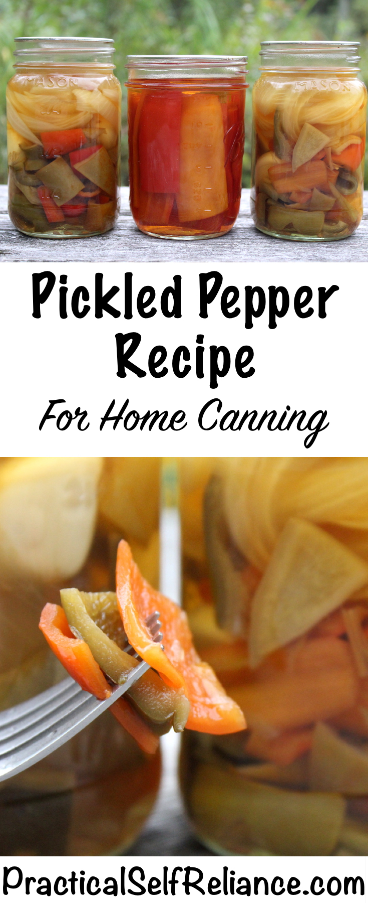 Pickled Pepper Canning Recipe (Hot or Sweet) #peppers #recipes #pepperrecipes #pickledpeppers #canning #foodpreservation #homesteading #selfsufficiency #pickles