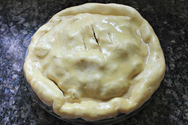 Strawberry Rhubarb Pie with a Maple Cream Glaze