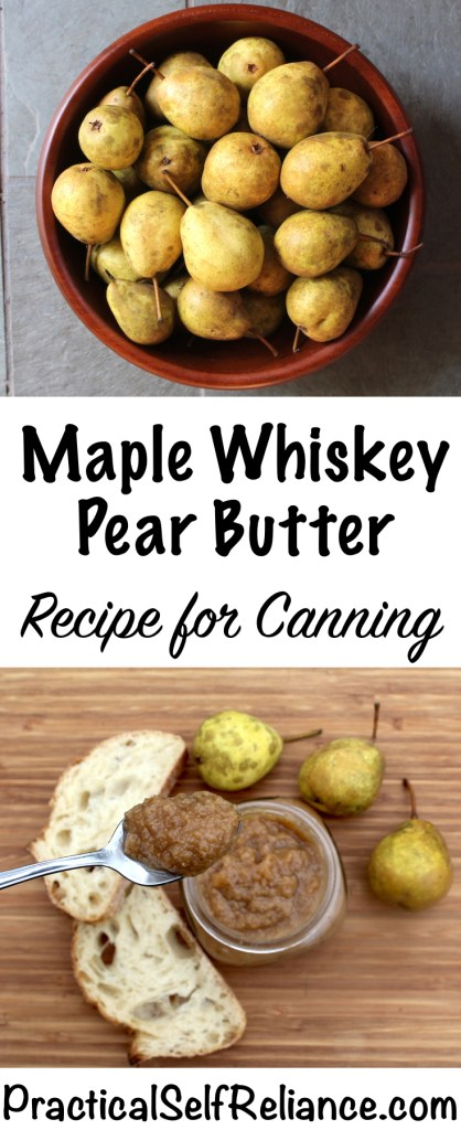 Maple Whiskey Pear Butter - Recipe for Canning