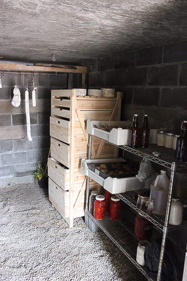 Inside a Homestead Root Cellar