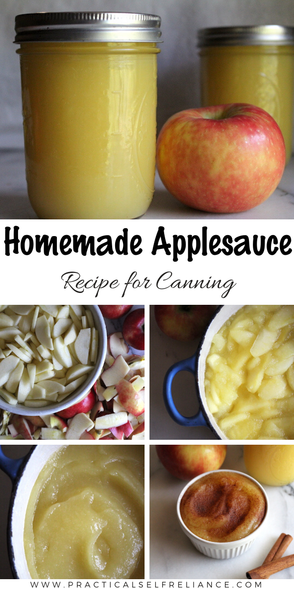 Homemade Applesauce recipe for canning ~ Canning applesauce at home is really easy, and it's the perfect canning recipe for beginners.