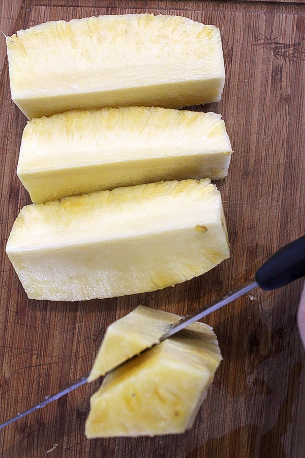 How to remove pineapple cores for canning
