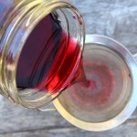 Filtering Homemade Blackcurrant Liqueur ~ Cassis