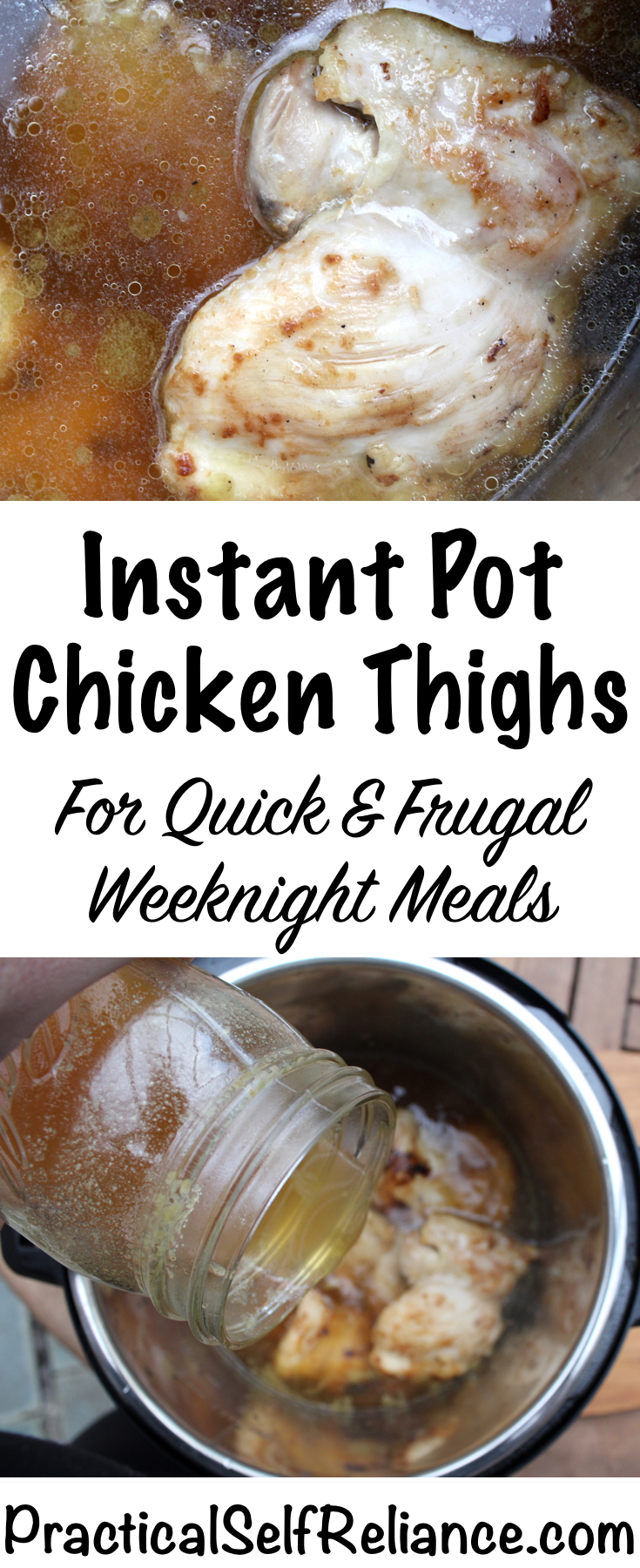 Instant Pot Chicken Thighs Recipe