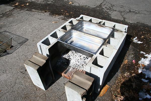 cinder block evaporator