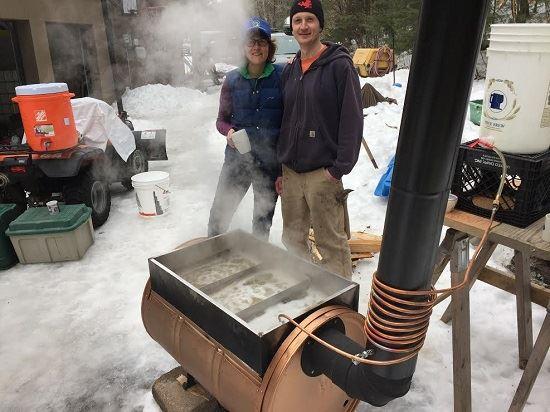 Sapling Evaporator for Maple Sugaring