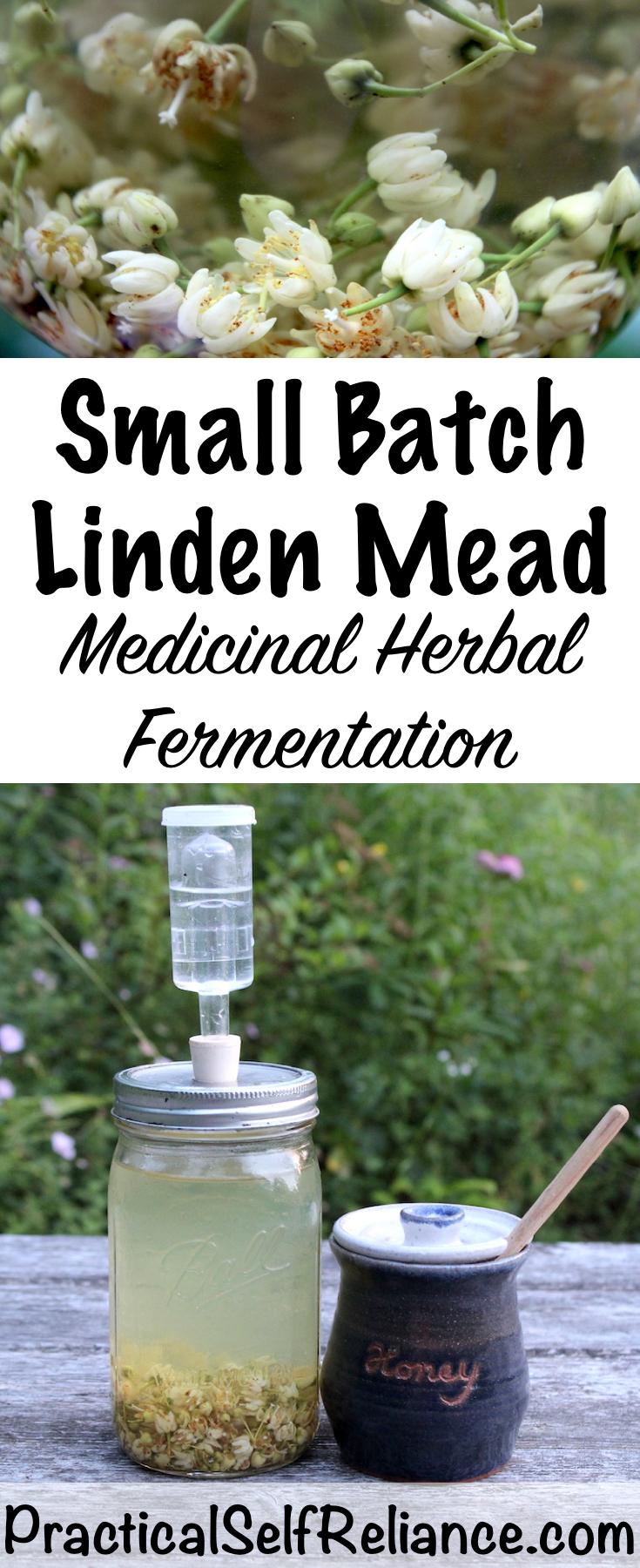 Small Batch Linden Mead ~ Medicinal Herbal Fermentation