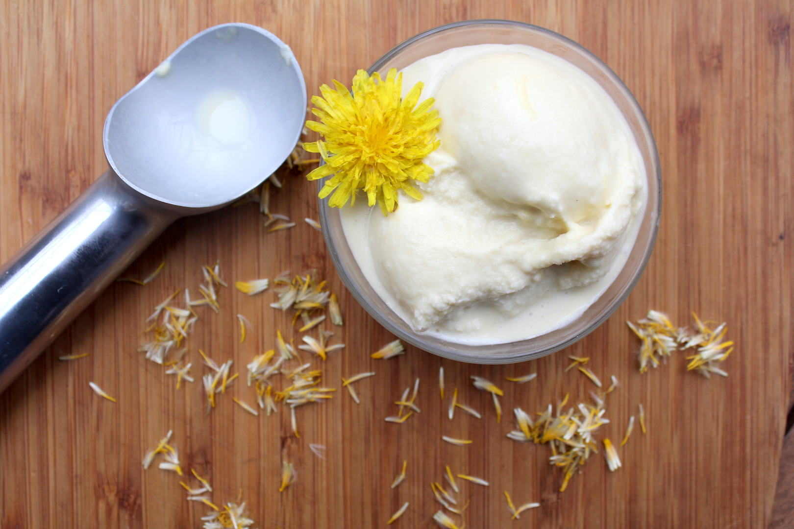 Dandelion Flower Ice Cream