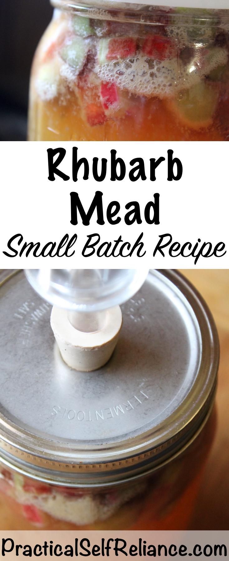 Rhubarb Mead ~ Small Batch Honey Wine Recipe #mead #meadrecipe #homebrew #honeywine #fermentation #fermenteddrinks #rhubarb #rhubarbrecipes
