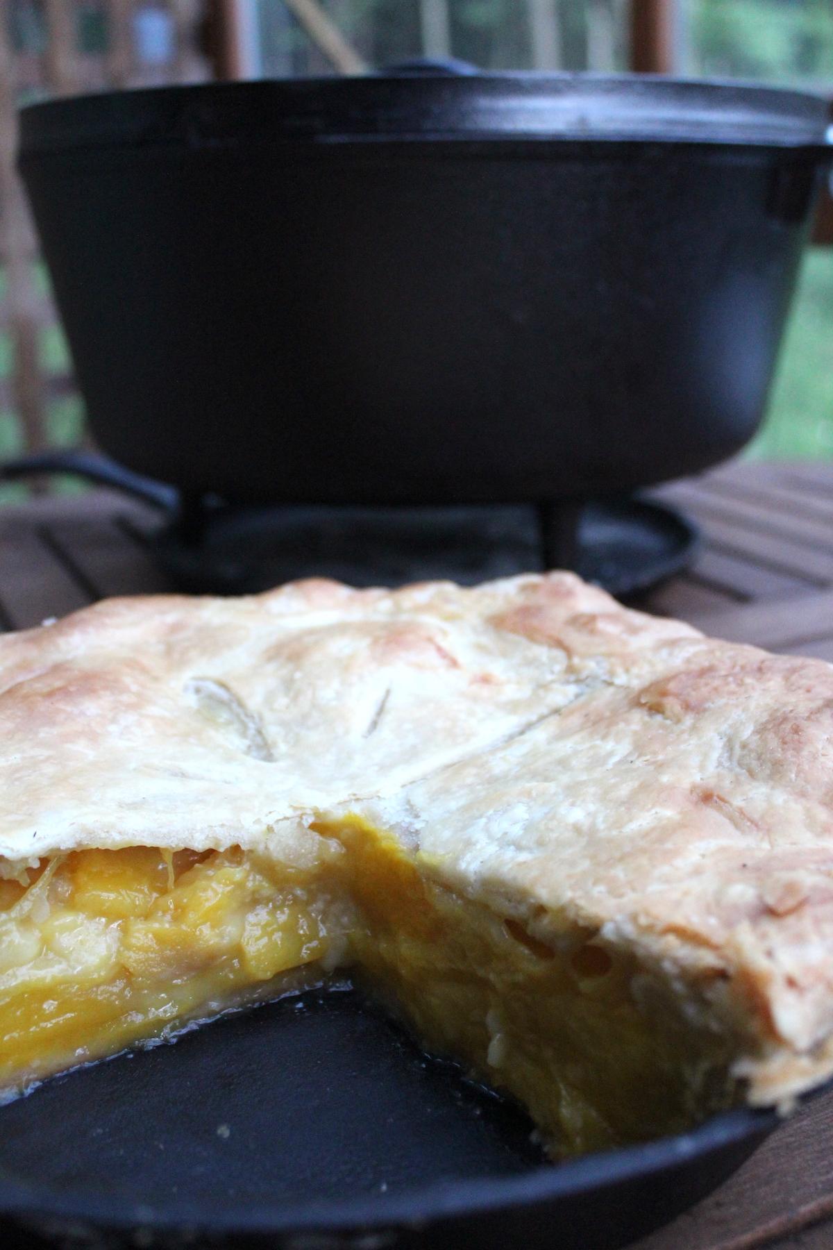 Baking a Pie in a Dutch Oven