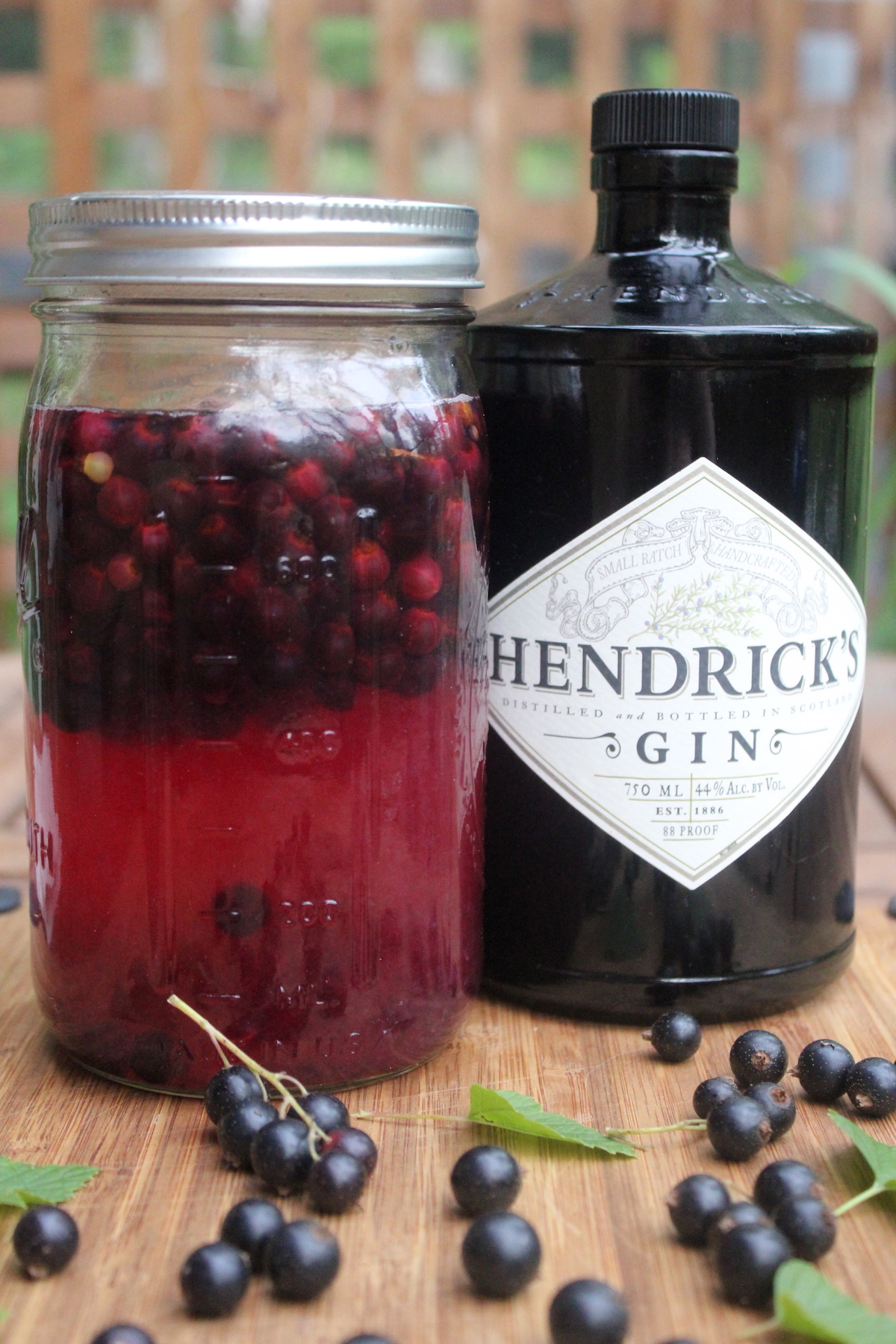 Blackcurrant infused gin