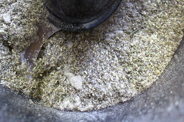 Grinding Clover Flour in a food processor