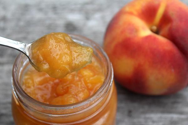 Spoon of Peach Jam