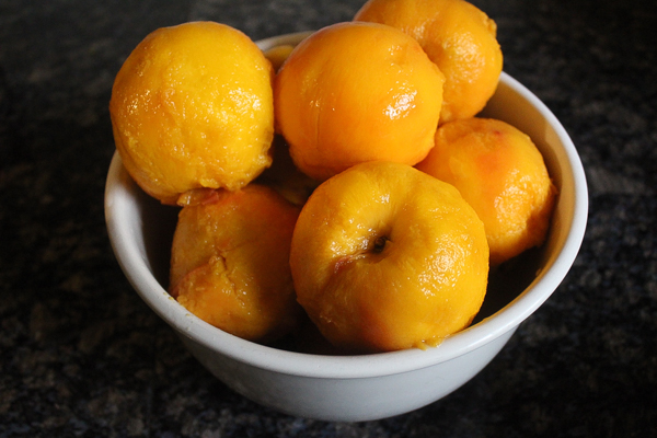 peeled peaches for canning
