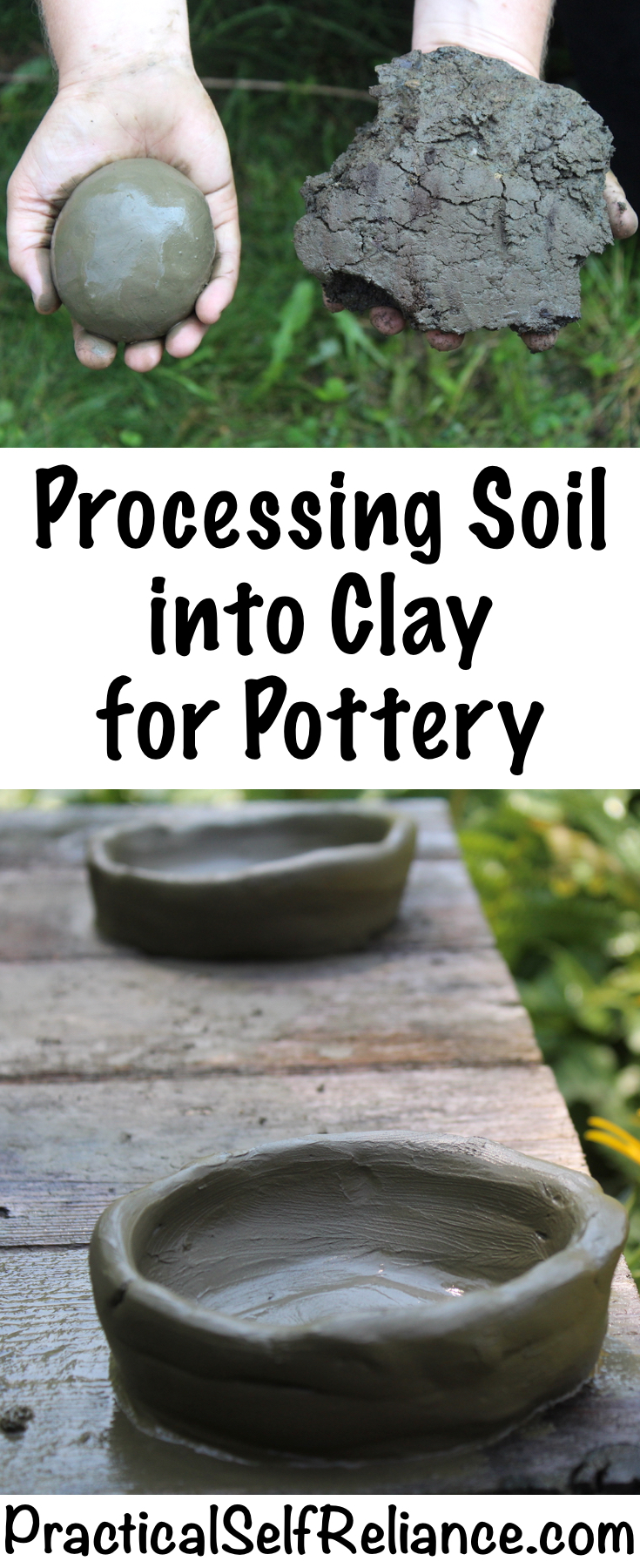 Processing Soil into Clay for Pottery ~ How to Make Clay from Soil #clay #pottery  #homesteading #selfsufficiency #prepper #preparedness #survival
