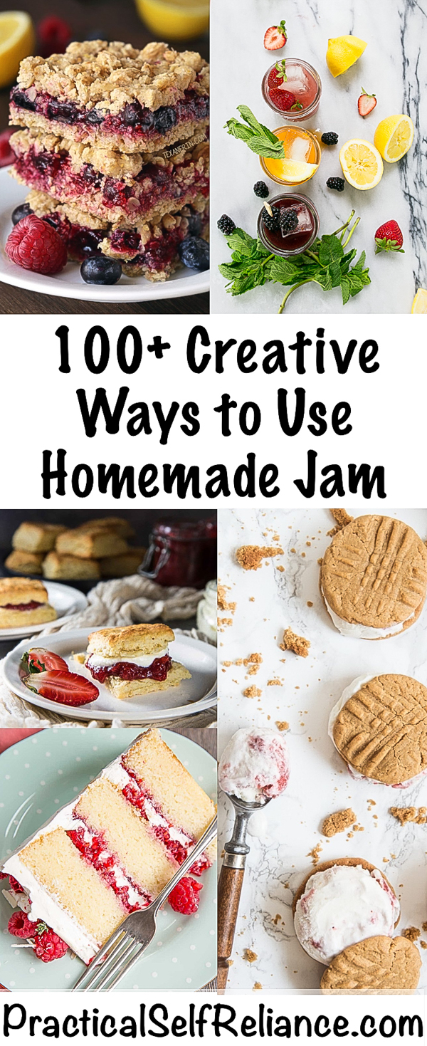 Creative Ways to Use Homemade Jam ~ Recipes Using Jam #jam #recipes #jamrecipes #howtouse #pantry #pantrycleanout