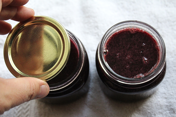 Filling Elderberry Jelly Jars