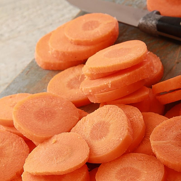 Carrots dehydrate quickly for soups