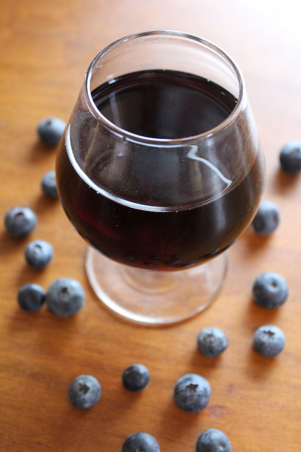 Homemade Blueberry Wine
