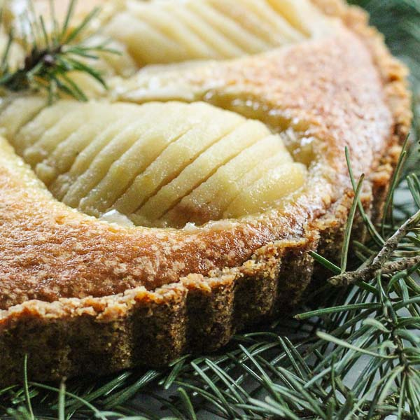 Douglas fir pear tart from Nitty Gritty Life