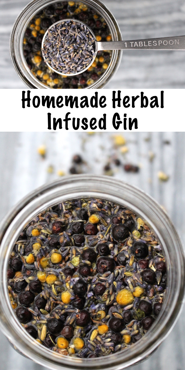 Homemade Herbal Infused Gin ~ Make your own flavored gin infusion starting with vodka and juniper, and then adding herbs and botanical seasonings for your very own flavored gin. Choose the right herbal additions, and a herbal gin can act as a very mild tincture for subtle herbal medicinal benefits (plus wonderful flavor!) #herbs #gin #herbalism #herbaldrinks