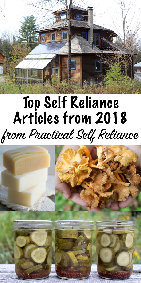 Top Self Reliance Articles from 2018 from Practical Self Reliance ~ Popular DIY, Garden, Homestead and Survival Articles