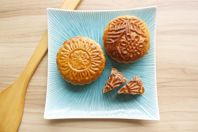 Chinese Moon Cakes use wood ash water in the dough.