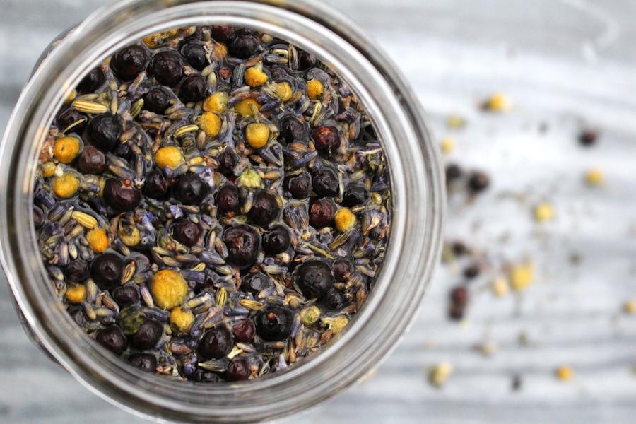 Homemade Herbal Gin Infusion