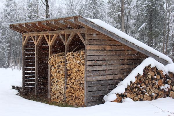 8 cord woodshed