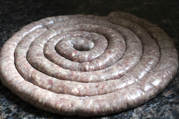 A full Rope of Homemade Lamb Sausage