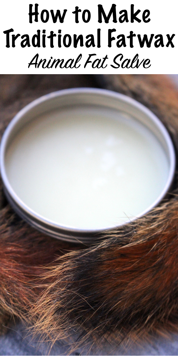 How to Make Fatwax ~ Traditional Animal Fat Salve for waterproofing gear and medicinal salve use. #salve #recipe #natural #animalfat #uses #homesteading #bushcraft