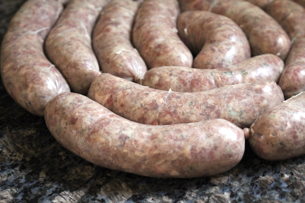 Homemade Rosemary Red Wine Lamb Sausage