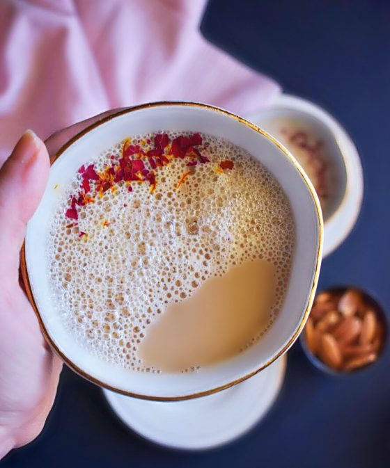 Saffron Rose Chai from Easy Cooking with Molly