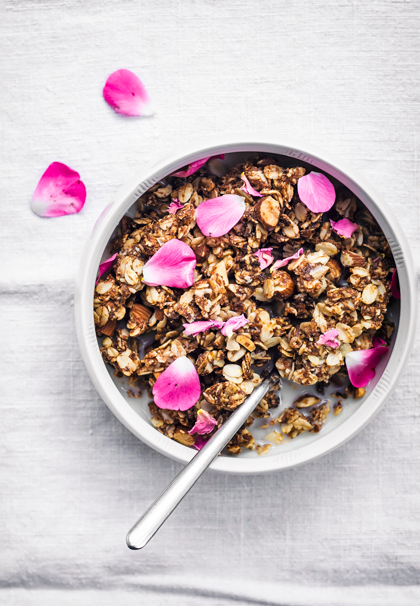Almond, rose and cardamom granola from Occasionally Eggs