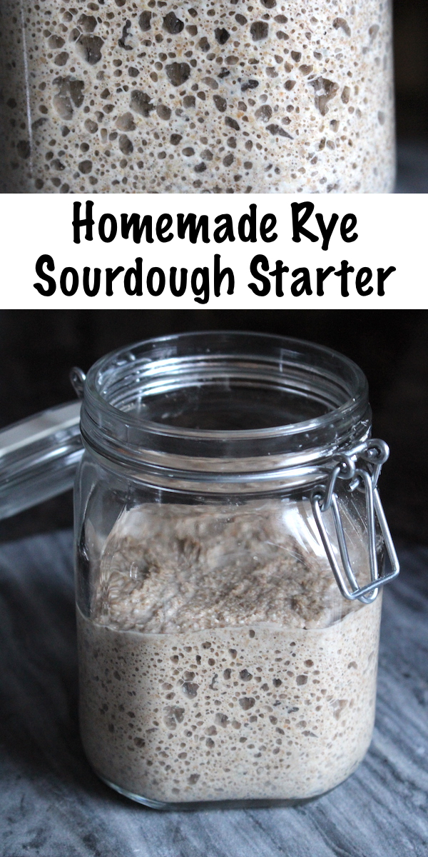 Homemade Rye Sourdough Starter ~ If you want to make 100% rye sourdough, you'll need a rye sourdough starter. Rye breads taste better with the long slow leavening that a sourdough culture provides, and a homemade rye sourdough culture can be made at home with just a few ingredients. #sourdough #rye #sourdoughstarter #homemadebread #healthy #recipe #realfood