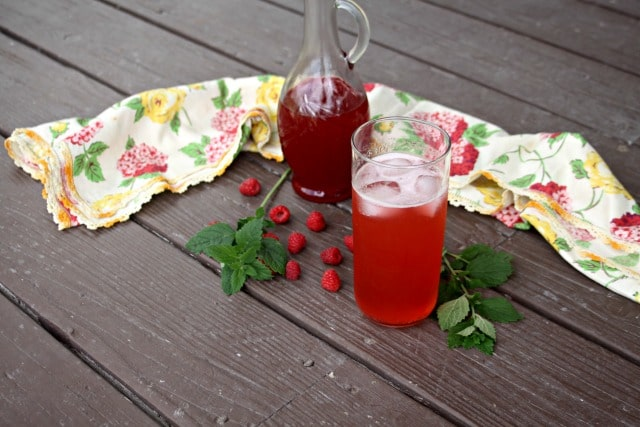 Raspberry Lemon Balm Shrub from Homespun Seasonal Living