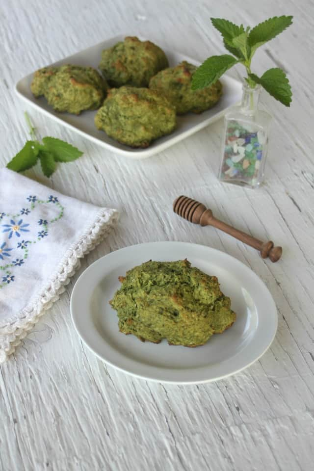 Lemon Balm Drop Biscuits from Homespun Seasonal Living