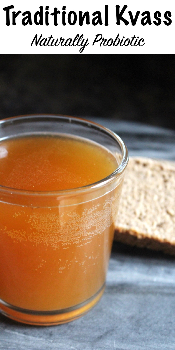 Traditional homemade kvass is naturally probiotic and has been used as a health tonic since the middle ages. Its an all natural probiotic beverage made with stale rye bread and a sourdough starter culture. The resulting drink is naturally carbonated and refreshing.