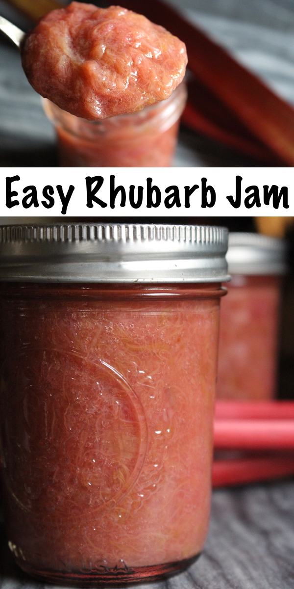 Rhubarb Jam is easy to make at home with just a few ingredients. Here's how to make homemade rhubarb jam three different ways, with no pectin, commercial pectin and natural pectin from citrus seeds. All recipes are perfect for either rhubarb freezer jam or home canning.