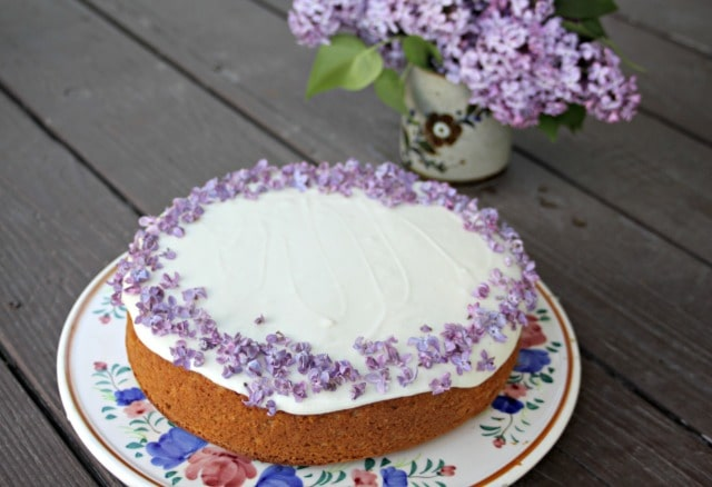 Lilac Honey Cake from Homespun Seasonal Living