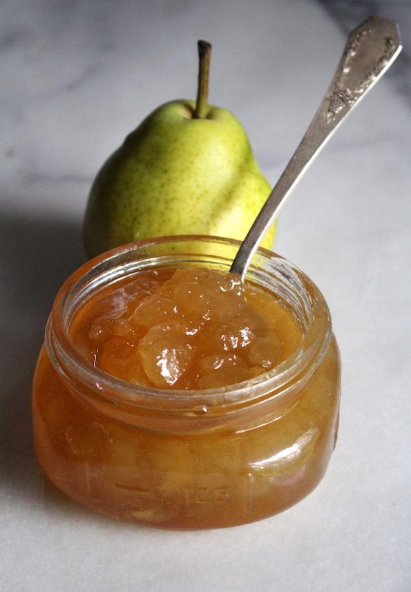Homemade pear jam using Bartlett pears